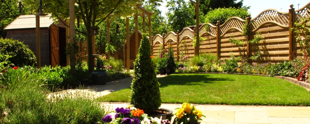 Make your garden look longer by using focal points and partially obstructing the garden